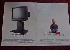 1986 Print Ad Sony Trinitron XBR TV Television & VCR ~ Howdy Doody Never Grew Up