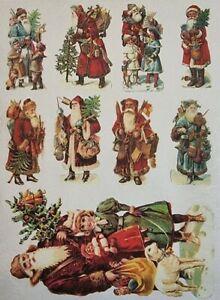 Rice Paper for Decoupage Scrapbook Craft Christmas Santa Claus 109