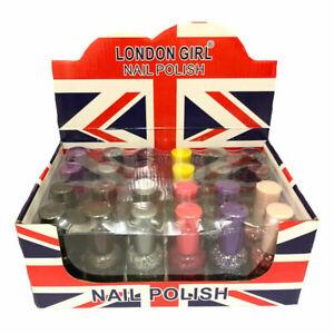 Wholesale Pack 24x 20ml XL Bottles London Girl Glitter Nail Polish Nail varnish