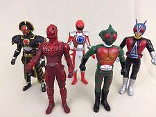 Bandai Ultraman Kamen Masked Rider Kaiju Monster Vinyl Action Figure Lot Of 5