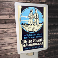 "White Castle Vintage Advertisement 4x6"" Photo Night Light"