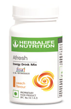 Herbalife Afresh Energy Drink 50 Grams Fast Shipping Peach Flavor Set of 2
