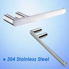 Bathroom Mirror Round Hand Towel Rack Rail Wall Robe Hook Stainless Steel Holder