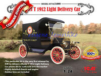 ICM 24008 Model T 1912 Light Delivery Car with Rubber Tires, Plastic Kit 1/24