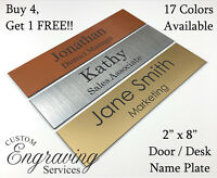 """NAME PLATE FOR OFFICE DESK OR DOOR (2""""X8"""") SIGN PLAQUE PERSONALIZATION ENGRAVED"""