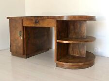 Scrivania tavolo desk legno radica anni '50 Mid Century vintage modernariato