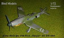 "Focke Wulf Fw 190 V19 ""Spezial""        1/72 Bird Models Resinbausatz / resin kit"