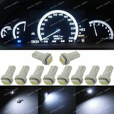 10x White color T5 73 74 Speedometer Instrument Dashboard Gauge LED Light Bulb