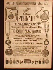 Jewelry Ad Evansville In 1884 Newspaper Railroad Pocket Watch Steinau