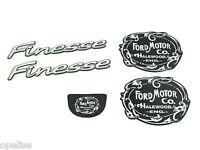 Genuine New FORD FINESSE MOTOR CO BADGE SET Embem Escort Estate 5 Door 1995-2000