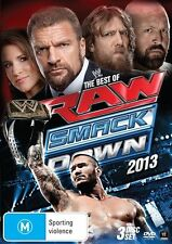 WWE - Best Of Raw Smackdown 2013 (DVD, 2014, 3-Disc Set) New  Region 4