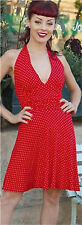 Halter Dress 8 PINUP dress 8 Polka dot dress 1950s retro Rockabilly style