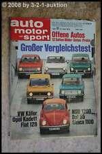 AMS Auto Motor Sport 11/70 * Maserati Indy Opel Commodore GS/E Daf 55