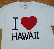I Love Hawaii t-shirt (S) 100% Cotton / White Color