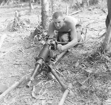 Ww2 Photo Wwii Captured Japanese Machine Gun New Guinea World War Two /1448