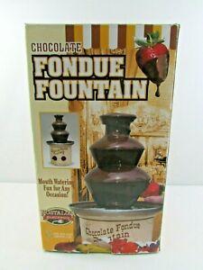 Nostalgia Electrics Chocolate Fondue Fountain CFF-884 New Open Box