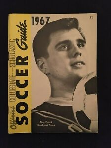 1967 Official Collegiate SOCCER Guide DON PROZIK Brockport State College on Cove