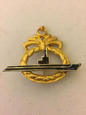 Turkey Officer's Full Size Metal Submarine Insignia Badge (1964-77)