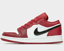 Jordan Air 1 Low GS ® ( UK Size 4  EUR 36.5 ) Nobel Red / Black / White NEW