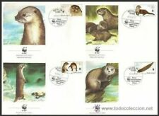 DDR Germany 1987 FDC, WWF, European Otter, Wild Animals