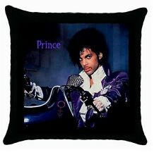PRINCE PURPLE RAIN BLACK ZIPPERED CUSHION COVER PILOW CASE 112860789