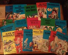 Vintage 1967 Set 18 Giant Fairy Story Grimm Anderson Pinocchio 3 pigs Wild Swan