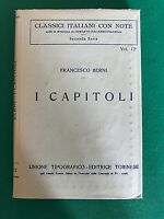 I CAPITOLI - Francesco Berni - Utet - 1926