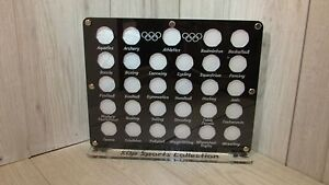 50p coin hunt display album rare full set case wallet Olympic collection 2012
