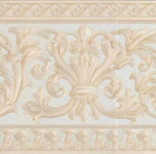 SATIN ARCHITECTURAL MOLDING WALLPAPER BORDER - 12134FP