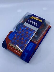 Spiderman 13 Piece Shower Curtain With Hooks Set NEW