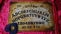 Wooden Ouija Board Game Planchette with Instruction Spirit Hunt Bizarre Ghost
