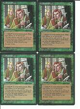 mtg Magic 4x Fyndhorn Elves  ( Elfos de Fyndhorn )   English  PLAYED+++
