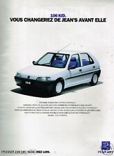 Publicité advertising 1993 Peugeot 106 Kid