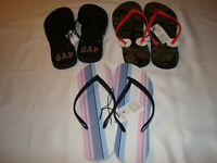 Women Gap Rubber Flip Flops Size 8, 9  10 And 11 NWT