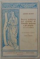 Breve schizzo dei sistemi di [...] - A. Rosmini - Carlo Signorelli Ed. - 1966- G