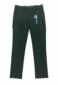NEW G Fore G4 Tech Golf Pants Trousers Flat Front Straight Pine Green Mens 34x32