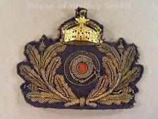 KAISERLICHE MARINE Schirmmützenabzeichen für Offiziere, handgestickt, 99825