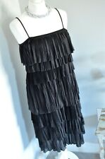 PHASE EIGHT Black flapper tiered style dress 14