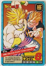 Carte Collection Dragon ball z CARDDASS-BANDAI 1996 power level 8 Bird Studio