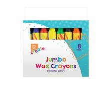 Kids JUMBO WAX CRAYONS Safe,Non Toxic Toddler First Crayons Easy Grip Art Craft