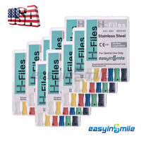 Dental Endo Hand Use H-File 25mm Files Endodontic Stainless Steel Reamers 6#-80#