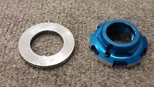 Old School Bmx 80's Blue Tange Lock Nut Original finish Lp 440 Mongoose Pk