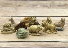 Lot of 10 Vintage WADE England Ceramic Figurines Zoo Puppy Monkey Hippo Lion