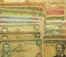 Central America Caribbean Lot of 18 Banknotes #6550