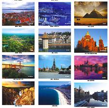 LOT 33 pcs UNESCO Postcard Country View Church Landscape Sights Castle Bulk Set