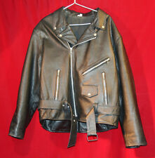 """Fox """"The Wild Bunch"""" Leather Motorcycle Jacket - Size 50"""