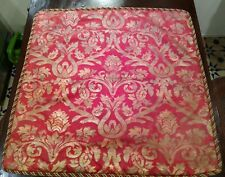 Gorgeous Red & Gold Damask Euro Pillow Shams Pair