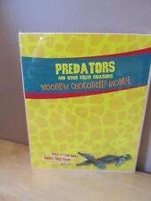 Predators Wooden Crocodile Model Kit~Snap Together~Brand New/Sealed