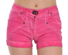 PLEIN SUD JEANIUS Shorts Pink Mid Waist Cotton Denim Mini IT38/US4/XS