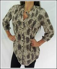 $90 JUMP python SNAKE PRINT COLLARLESS dress SHIRT 8 SMOCK top BLOUSE NWOT